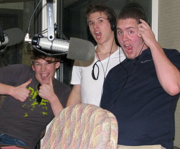 From Left to Right: Christ Jordahl, Trever Shirin, and Peter Jordahl in studio for the first time back in 2011.    The three of us go way back (like to nearly a decade before this picture)! Chris is a stand up comic and screenwriter, and also does Improv shows in Colorado with Stick Horses in Pants, check them out!   www.thestickhorses.com