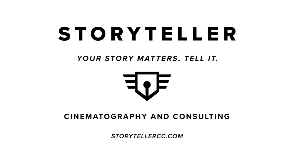 Storyteller - Gabe Jacobson at Storyteller Creative is an amazing producer and content coach. He is the one who helped us make the commercial you've seen, and he wants you to know that we purposefully did it poorly because we thought it was funny. Check out some of his good work at StorytellerCC.com