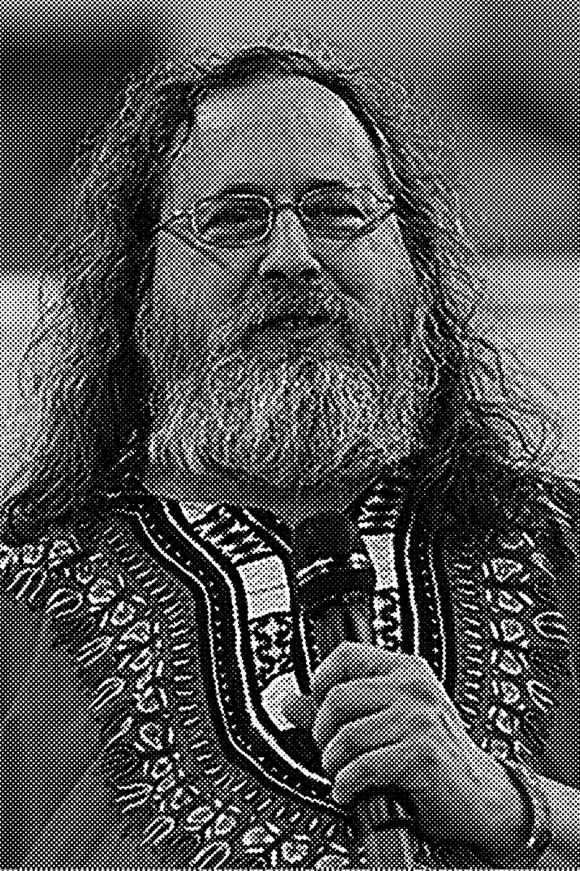 Richard Matthew Stallman  (nacido en  Manhattan ,  Nueva York , 16 de marzo de 1953), con frecuencia abreviado como «rms», 1  es un  programador   estadounidense  y fundador del  movimiento por el software libre  en el mundo.  Entre sus logros destacados como programador se incluye la realización del editor de texto  GNU Emacs , el compilador  GCC , y el depurador  GDB , bajo la rúbrica del Proyecto  GNU . Sin embargo, es principalmente conocido por el establecimiento de un marco de referencia  moral ,  político  y  legal  para el  software libre , un modelo de desarrollo y distribución alternativo al  software privativo . Es también  inventor  del concepto de  copyleft  (aunque no del término), un método para licenciar software de tal forma que su uso y modificación permanezcan siempre libres y queden en la comunidad de usuarios y desarrolladores.