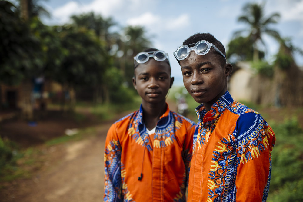 Brothers pose for a portrait in Tabou, Bas Cassandra district, Côte d'Ivoire, Thursday, May 26, 2016.