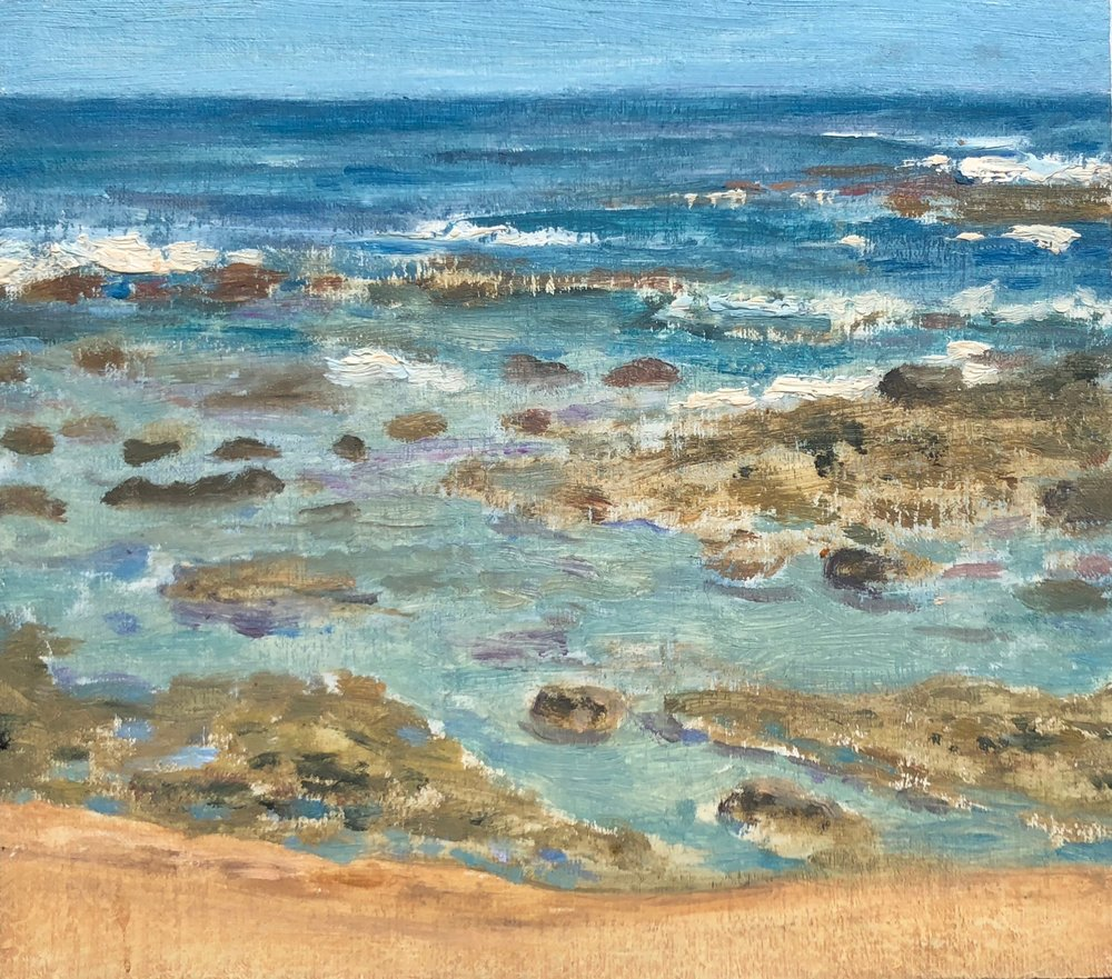 Ha'ena Reefs Oil on linen 6 x 7 inches 2008