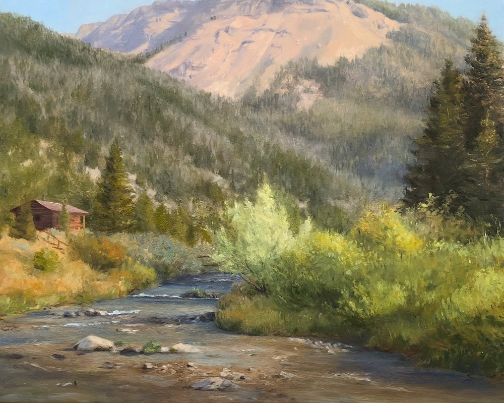 Flat Creek Ranch  2018 8 by 10 inches Oil on panel
