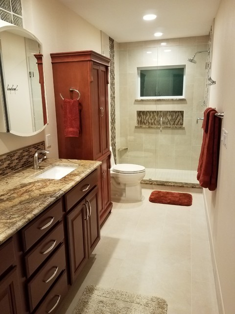 Vicki was instrumental in helping to create my dream bathroom. She is so easy to work with and really listens to what the client wants, not pushing what the latest trend is. I would not hesitate to call on her for assistance with any decorating or remodeling projects. - Christine B.
