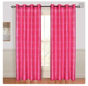 fuchsia curtain panel