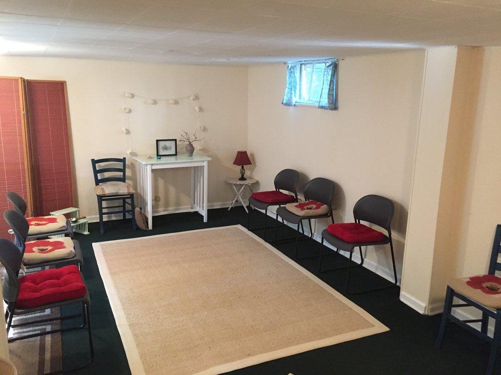 Dharma Friends Community Meditation Hall.  Photo credit: Kent Crawford, 2018.