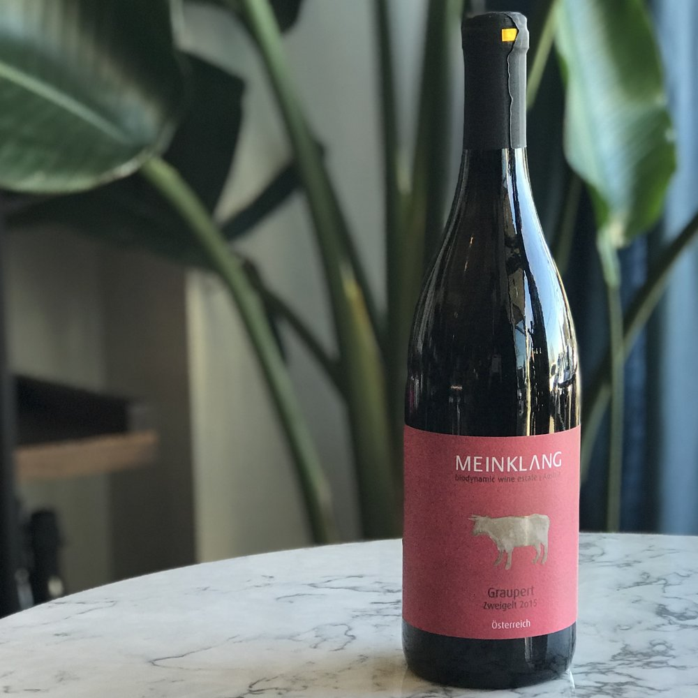 Meinklang Graupert Zweigelt - Figs, juniper, ancho chile, and musk; deep, strong, woodsy, and juicy. Balanced, smooth and dry. Certified biodynamic, organic, sustainable and vegan.