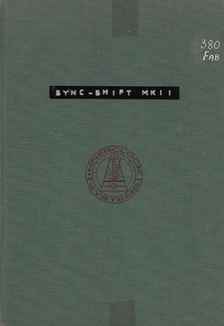 Sync-Shift MKIII Operation Manual