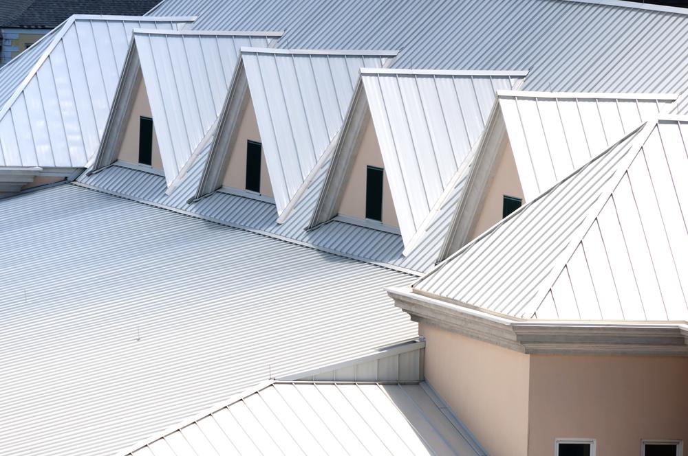 Unique white triangular shaped aluminum metal roof.jpg
