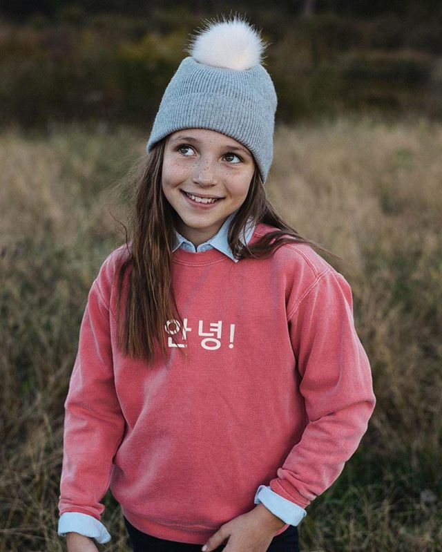 These are close to selling out and being gone for good, but I have ONE of these Watermelon sweatshirts left in children's size small (6-8). First person to leave their email gets it! I will email you the invoice ($30 with free domestic shipping) and you can choose any one of our 9 languages to go on the front. #multilingualkids