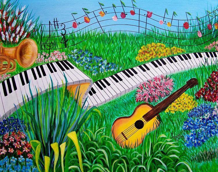 Musical Garden Fine Art Print -  Kathern Welsh
