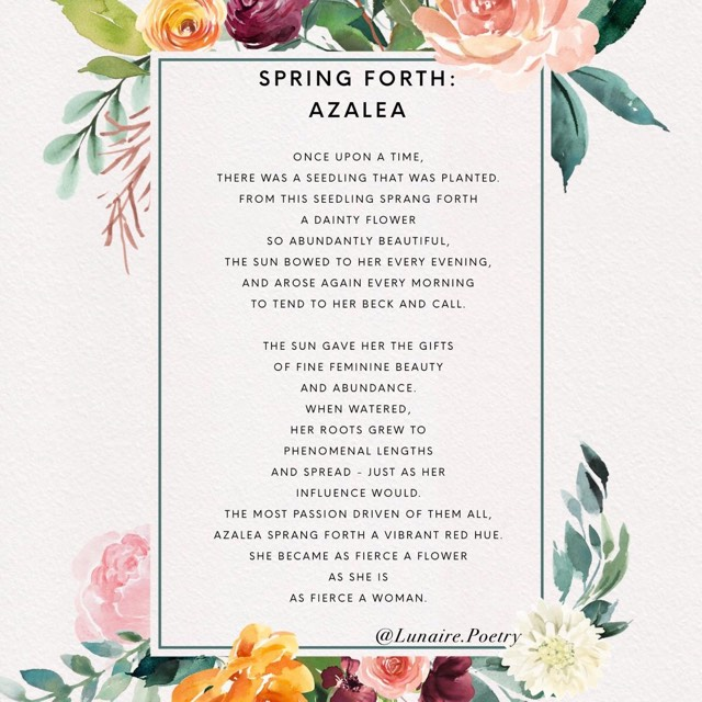 Artwork & Poem By :  Celeste