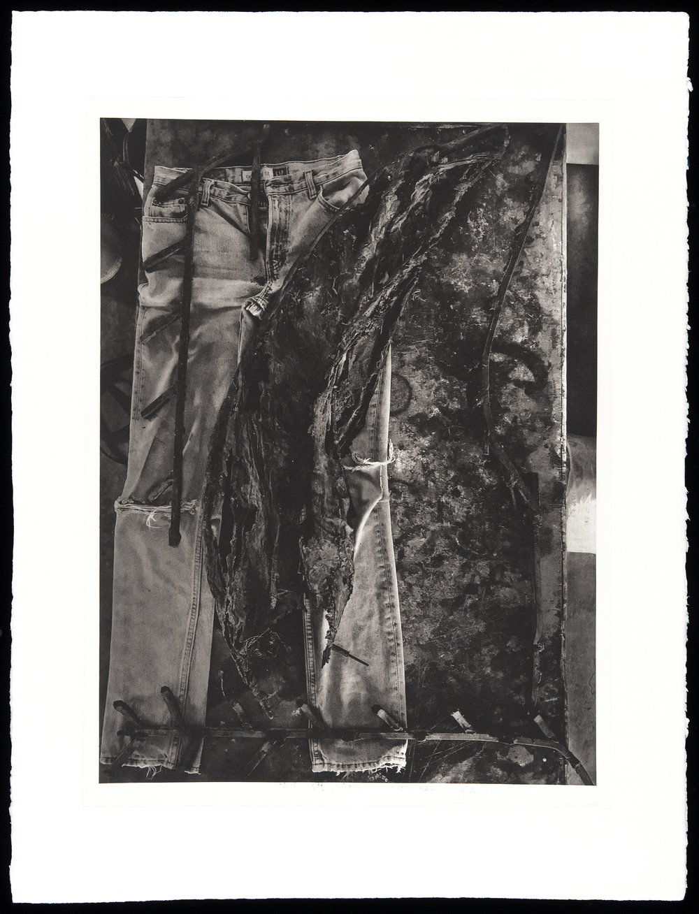 """Broken 1969"", 22"" x 30"", photogravure of sculpture"