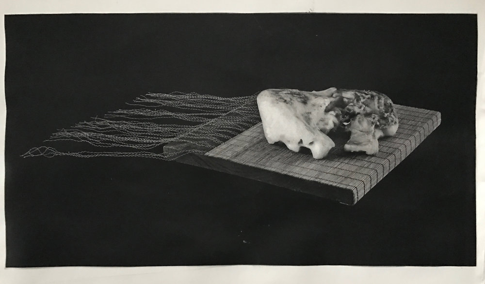 """Book of the Dead"", 22"" x 30"", photogravure of sculpture"