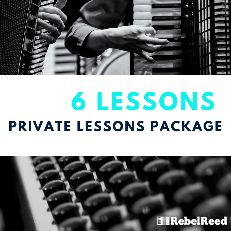 6 LESSON PACKAGE  Details: Video Documentation of Your Lessons, Custom Curriculum, Free admission to Theory and Musicianship class