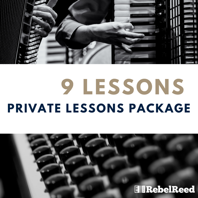9 LESSON PACAKAGE  Details: Video Documentation of Your Lessons, Custom Curriculum, Free admission to Theory and Musicianship class