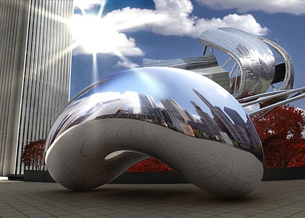 Millennium Splendor: Cloud Gate and Jay Pritzker Pavilion, 2008