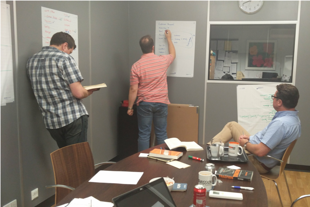 Management team defining our company values
