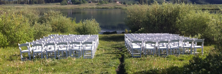 Crested Butte Table and Chair Event Rental Pricing | Alpenglow
