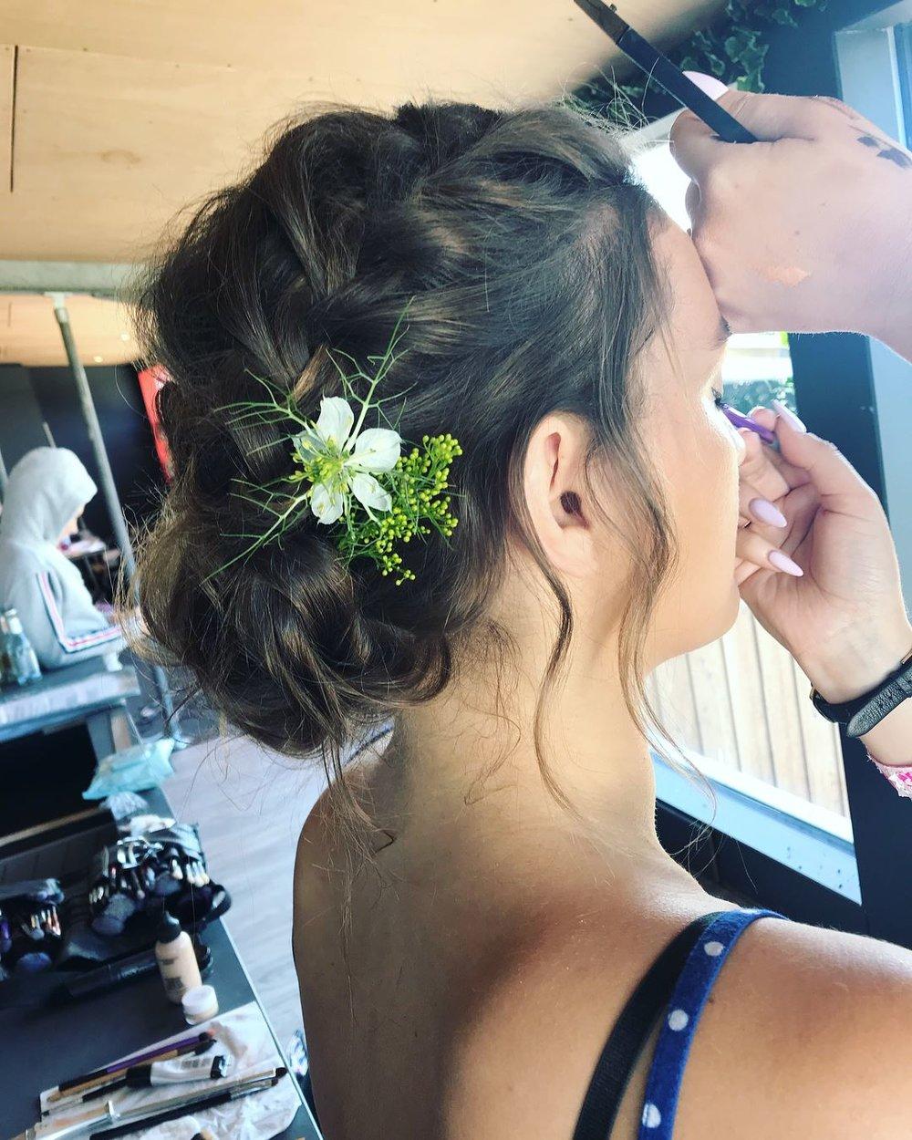 Hannah Woodgates Hair Design flower braided updo | Image courtesy of Hannah Woodgates