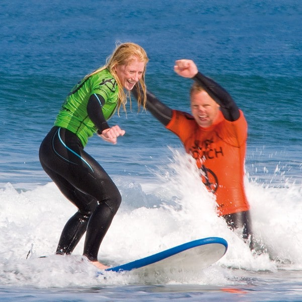 Outdoor Adventure surf coaching | Image courtesy of Outdoor Adventure