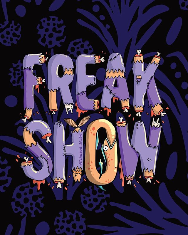 Le FREAK SH🤡W. ⠀ ⠀ ⠀ #turbobambi#graphicdesigner#freelancedesigner#digitalnomad#digitalart#popart#illustration#colourfulartwork#artswhistler#artsvancouver#artsrevelstoke#freakshow#inktober#spookyart#halloweenart