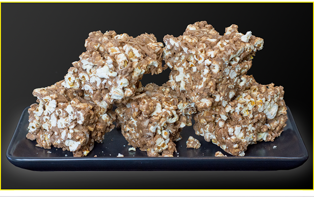 High Protein Chocolate Popcorn Slice from Bioflex