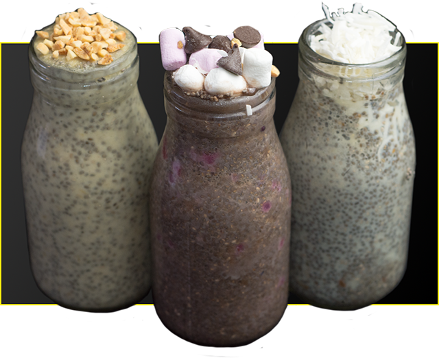 High Protein Chia Puddings