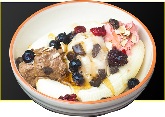 Banana Split With Protein Ice Cream Recipe from Bioflex Nutrition