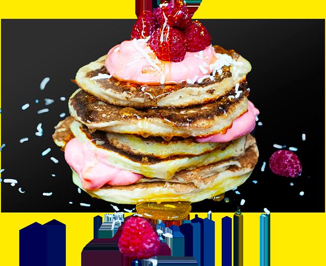 Jam Donut Protein Pancakes Recipe