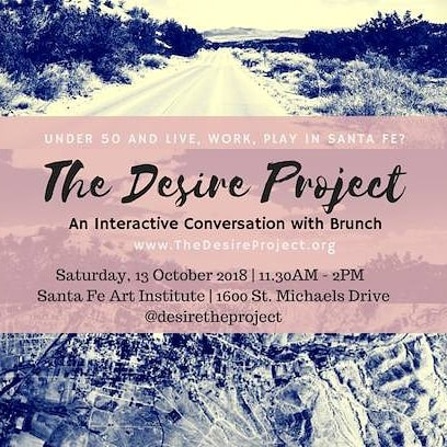 Join me and other community members under 50 this weekend for the Desire Brunch at Santa Fe Art Institute! Visit thedesireproject.org for more information!  #desire #communityart #communityengagement #economicdevelopment #creativeeconomy #alternativejustice #economicdevelopment #remember #sfuad #midtown #santafe #newmexico #eco #simplysantafe