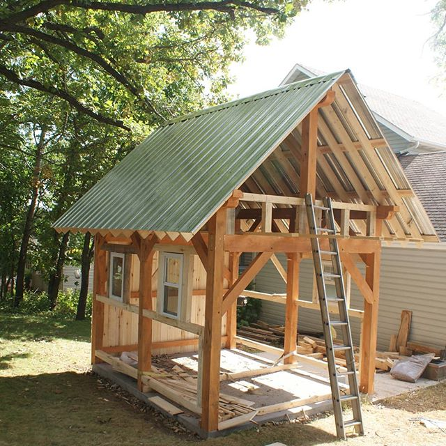Red Wing, MN Build your own Timber Frame? We have time in September 2019  to work with a client to build their own small timber frame.  If interested email AndersonTimberWorks@gmail.com Build your own option runs $3,000-$6,000 depending on size. #timberframing #timberframer #timberframe
