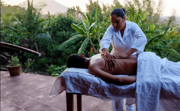 Work those stresses and strains out with a massage