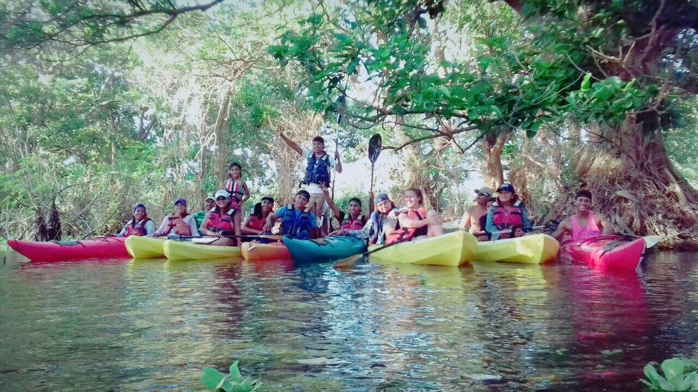 Selvista team 2018 staff day out kayaking on the istian,  Ometepe