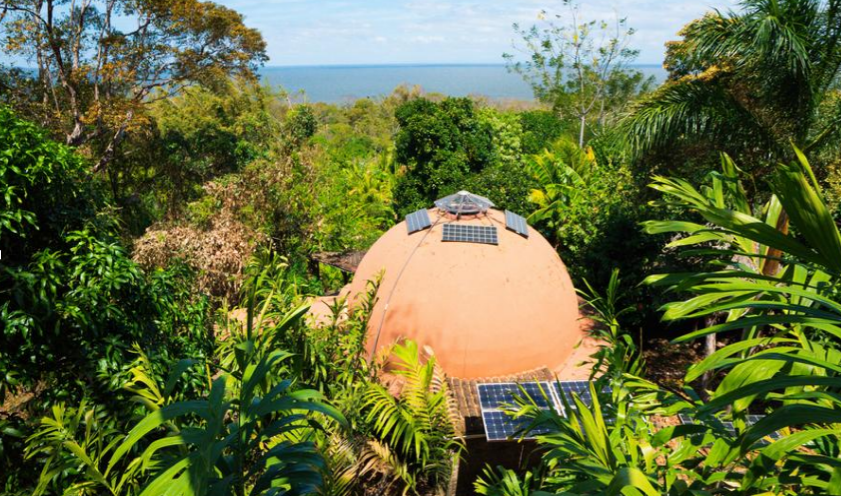 round house, dome-home, permaculture design house, unique housing, Homestead