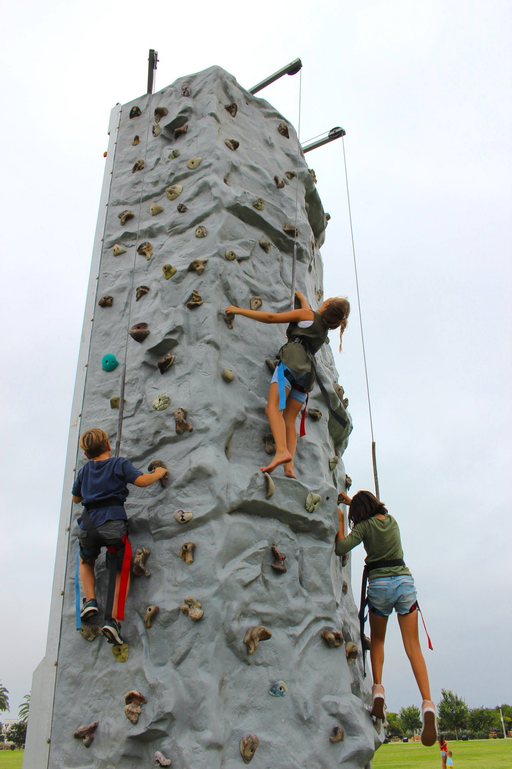 Multiple Climbers On The Wall