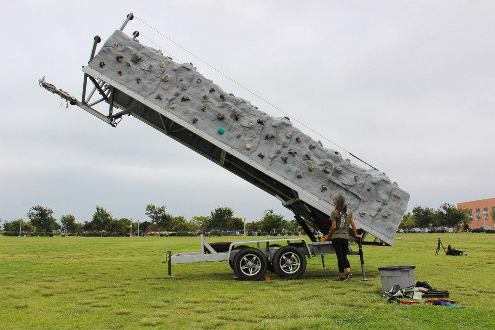 Mobile Rock Wall Teardown