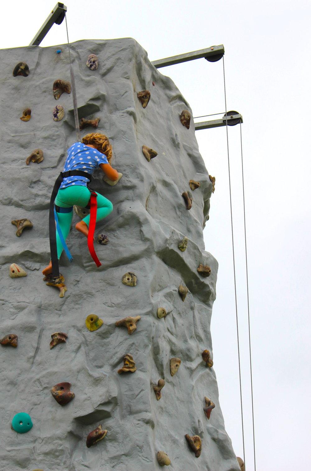 Child Rock Climber