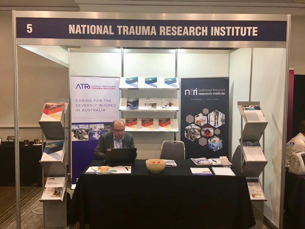 NTRI/ATR Booth with Mr Ben Gardiner - Trauma 2018