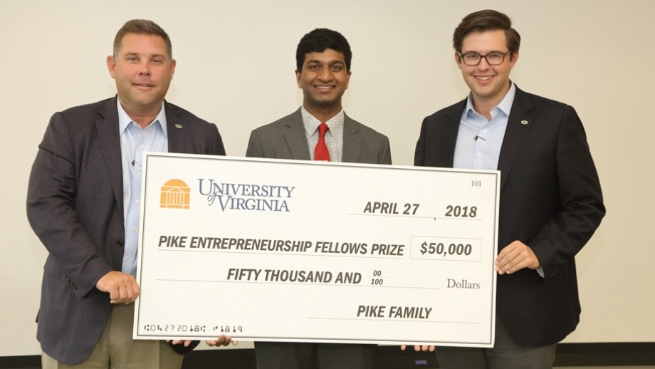 Major Wins Propel UVA Engineering Entrepreneurship Team to Future Business Success - One of the student entrepreneurs I worked with for four years wins the largest prize given to a UVA student entrepreneur. Read Article >