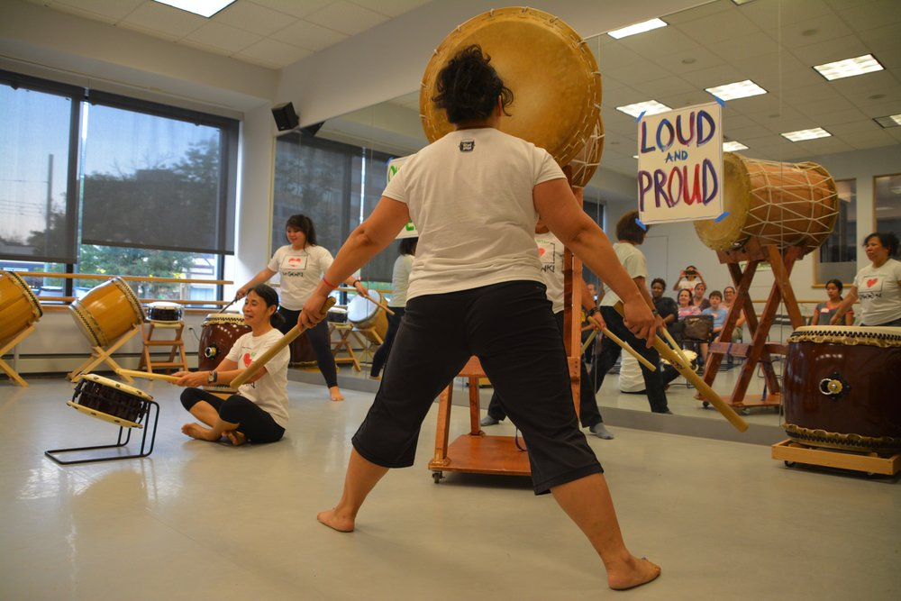 Why taiko? - TAIKO is the Japanese word for 'drum' and has existed in Japanese culture for thousands of years. Taiko came to the US with early immigrants and took root as an art form though cultural festivals, Buddhist spiritual practices, and the work of Japanese and Asian American activists of the '70's. Combined with other forms of expression the taiko is a powerful tool for individual and community empowerment.