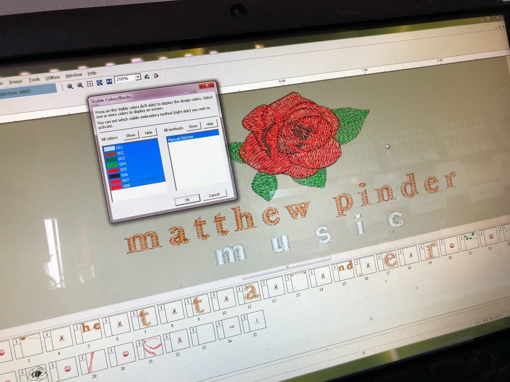 Compucon embroidery software