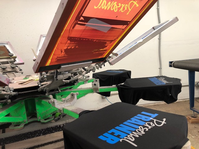 Multicolor screen printing
