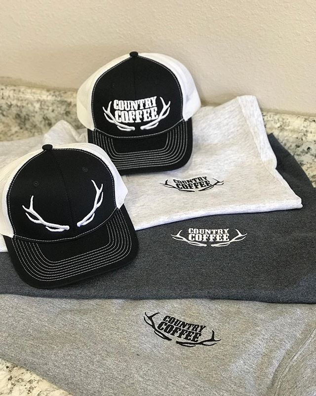New embroidered CC gear! • • • • • • #countrycoffee #ccgear #hats #embroidered