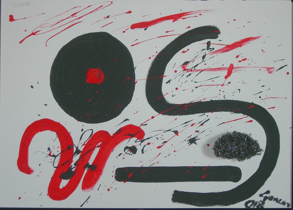 Sistema - acrylic on canvas board 50x70 CM - 2018