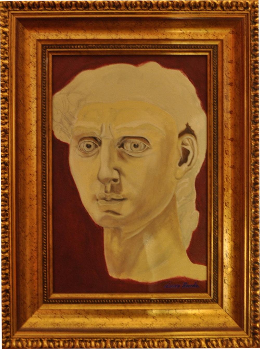 """David"" Acrilyc on canvas. Size without frame 28 x 68cm"