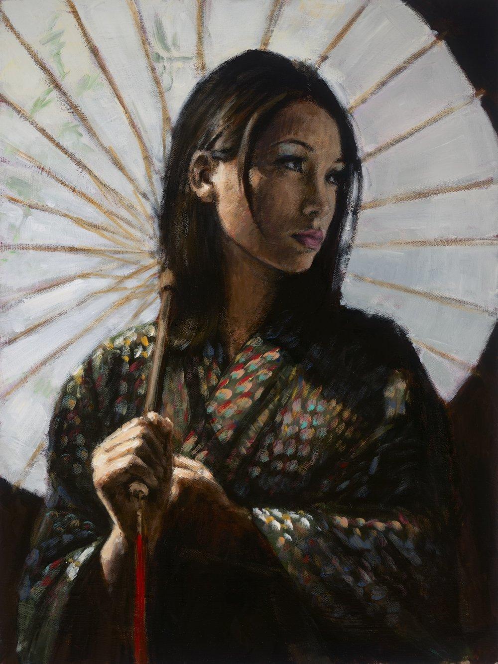 Michiko II - White Umbrella