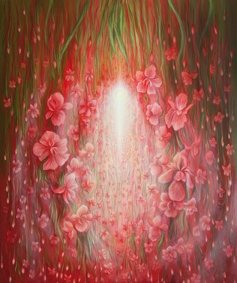 Internal World of Goodness (2-Pulses of Love. Oil on canvas. 110 x 120 cm. 2013