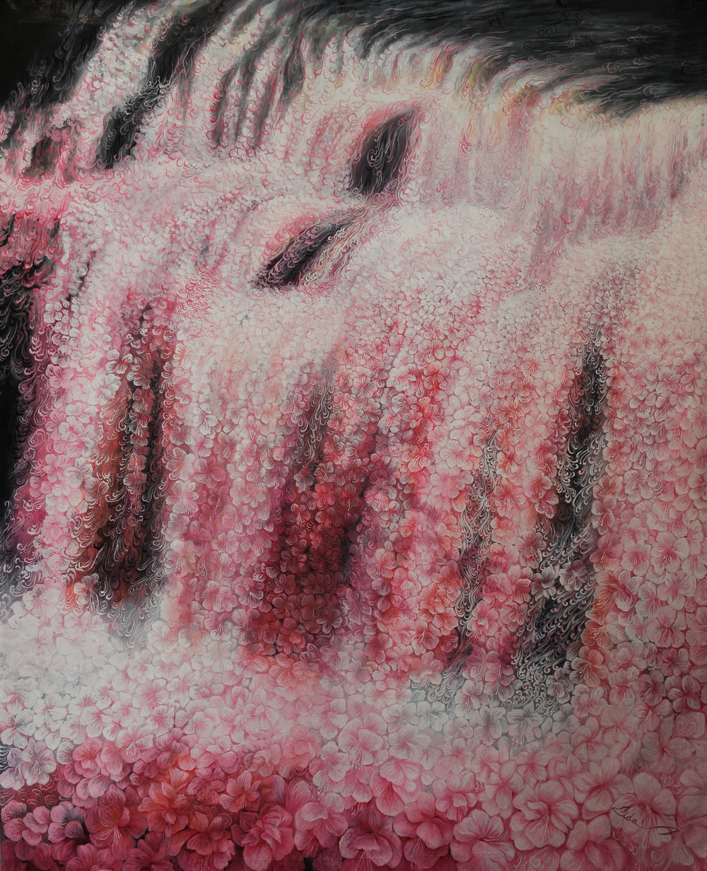Waterfall of the Soul. Oil on canvas. 155 x 122 cm. 2016