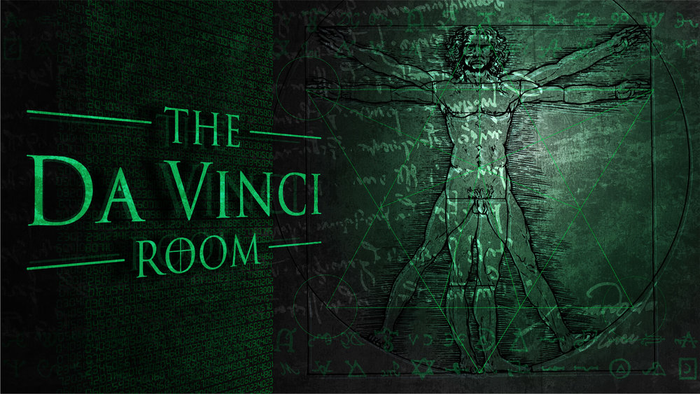 THE Da vinci room - Primarily focusing on code-breaking, symbolism and association problems The Da Vinci Room will offer an interesting challenge for new and returning players alike.Take on the role of thieves trying to recover the Holy Grail for the greater good. Does your team have what it takes to Escape?
