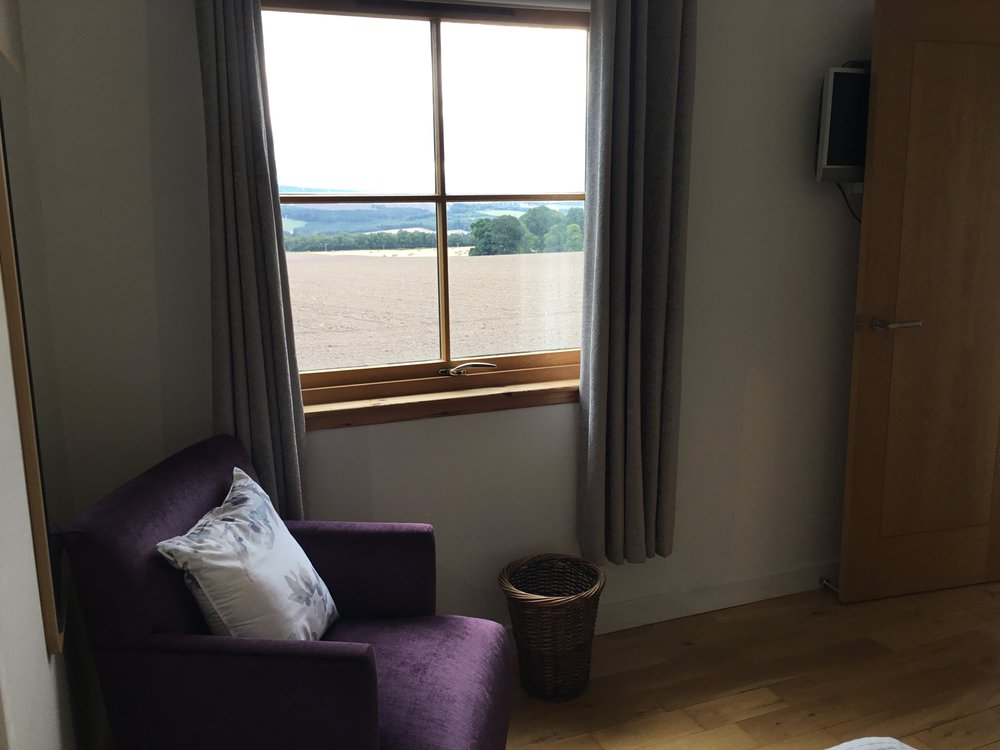 Bedroom view over black isle